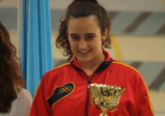 Ines García campeona del Campeonato Madrid de Esgrima 2014