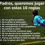 10 reglas básicas para los padres del Fútbol Base