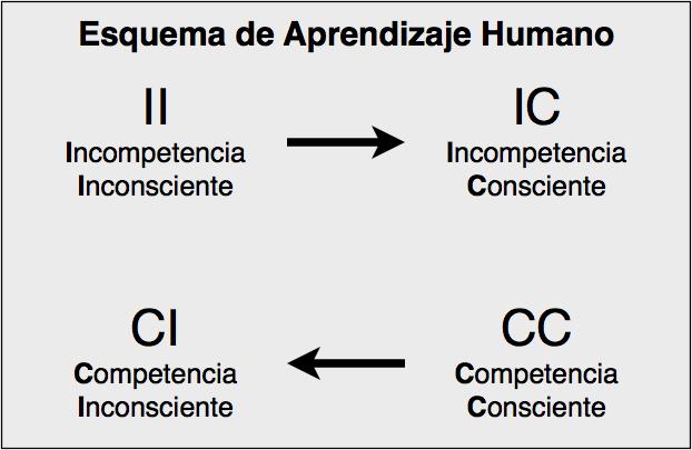 Esquema aprendizaje humano