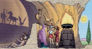 La alegoría de la caverna de Platón